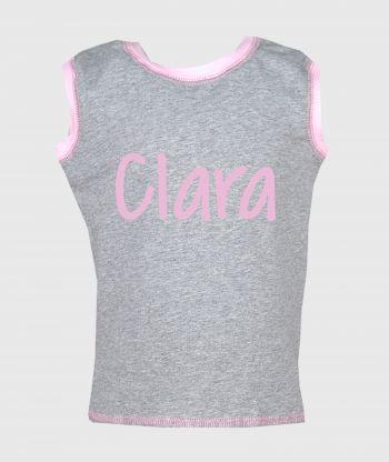 Sleeveless T-shirt Grey/Pink