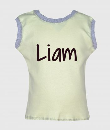 Sleeveless T-shirt Lime/Grey