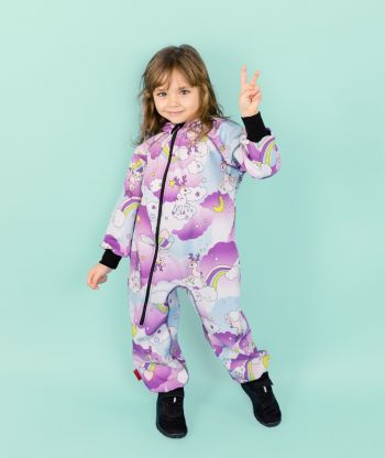 Waterproof Softshell Overall Comfy Fantasy Deers Jumpsuit