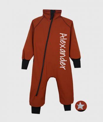 Waterproof Softshell Overall Comfy Cinnamon Bodysuit