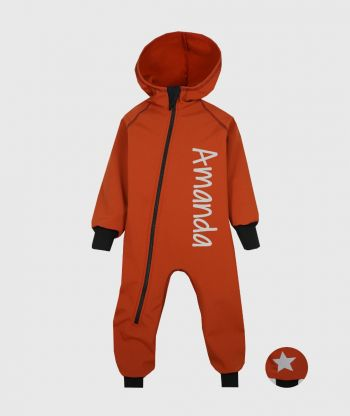 Waterproof Softshell Overall Comfy Cinnamon Jumpsuit