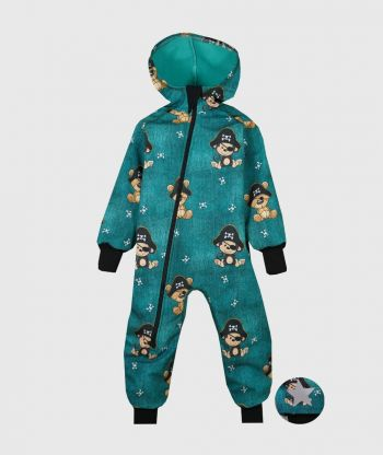 Waterproof Softshell Overall Comfy Pirate Animals Jumpsuit