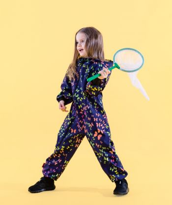 Waterproof Softshell Overall Comfy Colorful Butterflies Jumpsuit