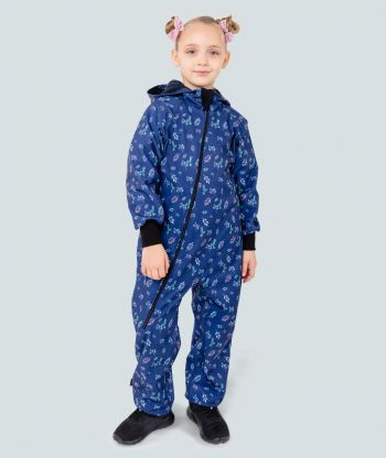 Waterproof Softshell Overall Comfy Hummingbirds Jumpsuit