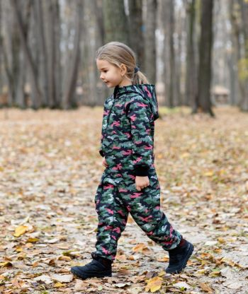 Waterproof Softshell Overall Comfy Green Camouflage Jumpsuit