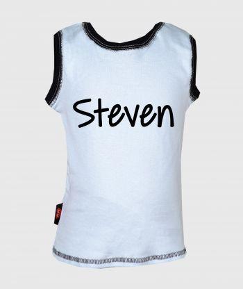 Sleeveless T-shirt Light Blue/Black