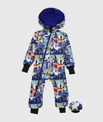 Waterproof Softshell Overall Comfy Cartoons Heroes Jumpsuit
