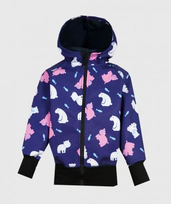 Waterproof Softshell Hoodie Polar Bears