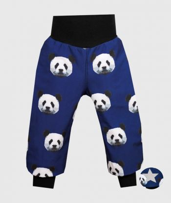 Waterproof Softshell Pants Pixel Panda Blue