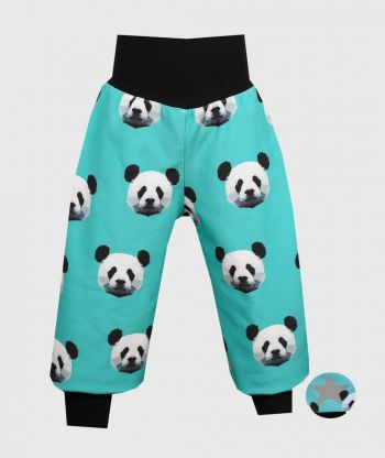 Waterproof Softshell Pants Pixel Panda Mint